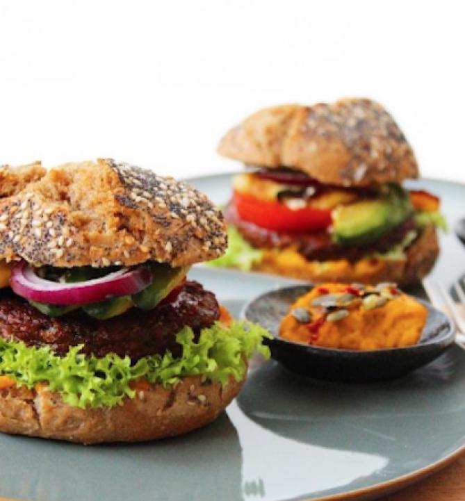 Frisse veggie burger