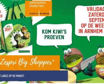 Gratis Zespri Big Shopper op de markt in Arnhem